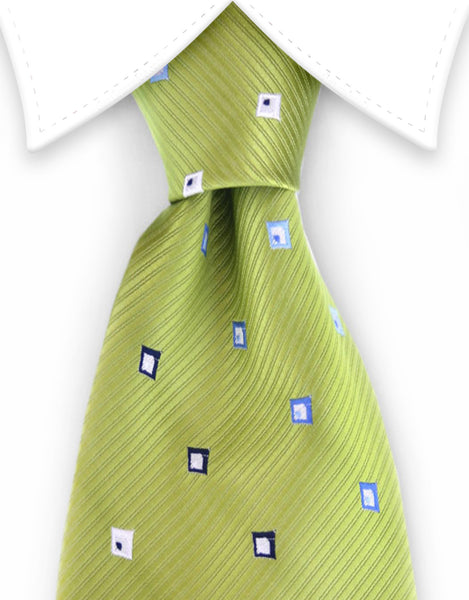 key lime green tie