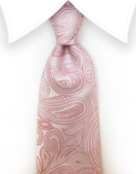 blush pink extra long ties