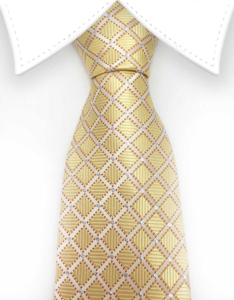 Light gold tie with sparkles