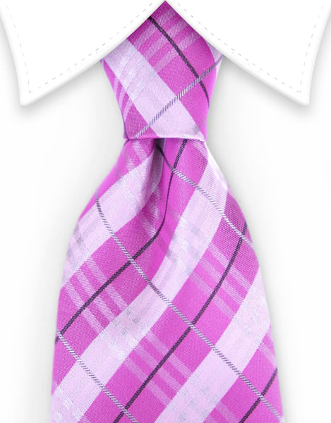 dark & light pink tie