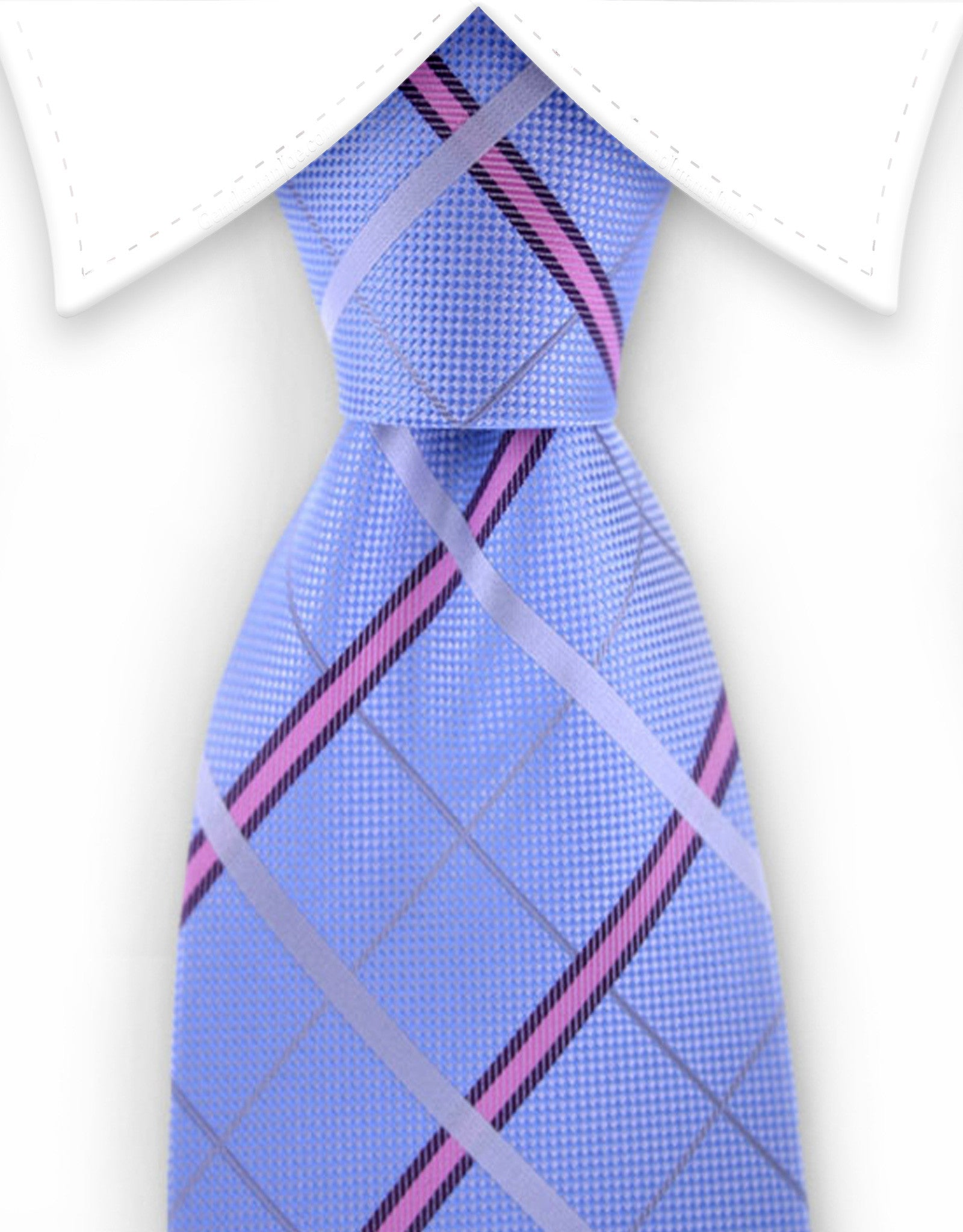 light blue and pink tie