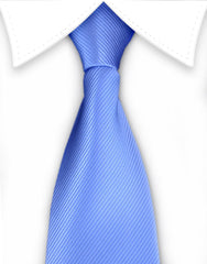 Light Blue Boy's Zipper Tie