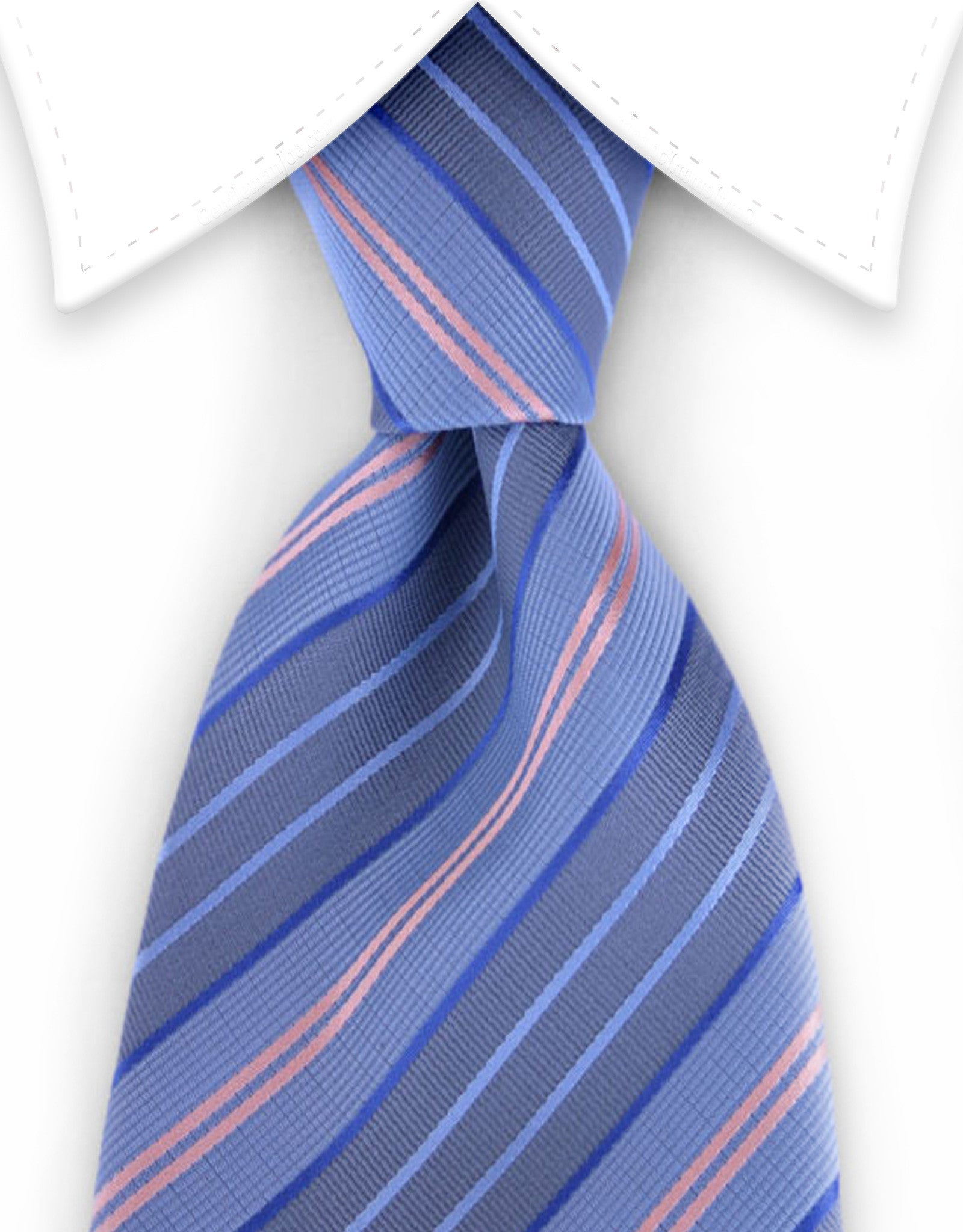 light blue & pink stripe tie