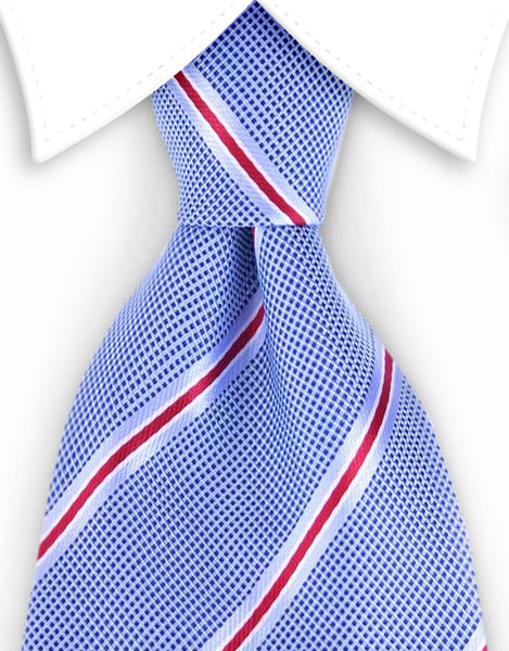 Light blue & red necktie