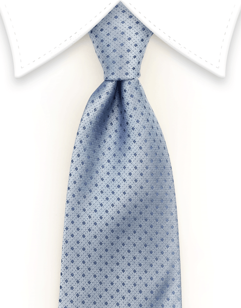 Light Blue Men's Tie with Tiny Diamonds