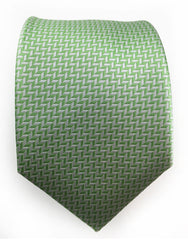 light green and sillver herringbone tie