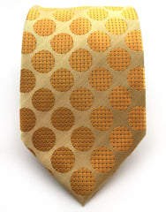 light orange dot tie