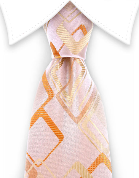 light peach orange and yellow tie