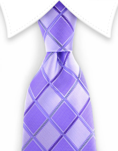 Purple and lilac diamond tie
