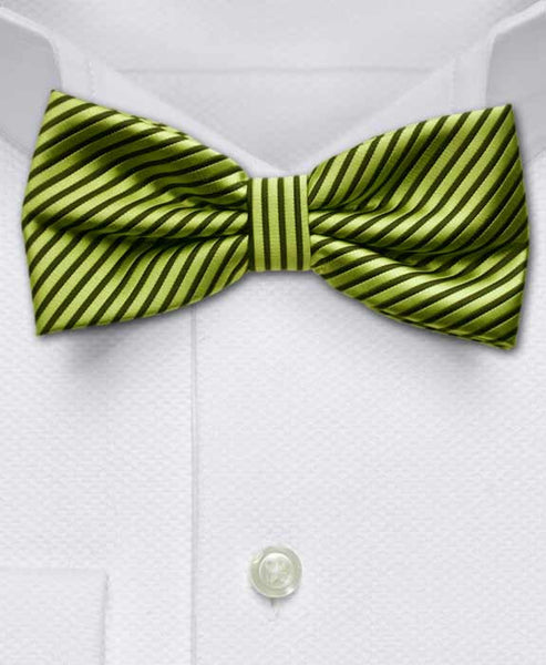 Neon Green and Black Bow Tie
