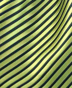 Green & black striped pocket hanky