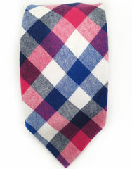 blue, pink and white tie