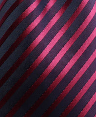 BURGUNDY RED AND BLACK STRIPE TIE
