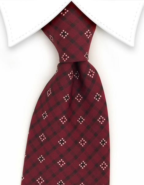 Red burgundy tie