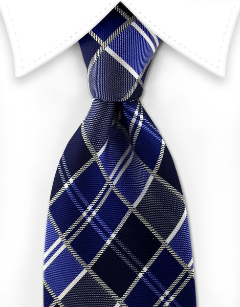 Blue stained glass tie