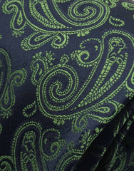 Green and navy blue silk tie
