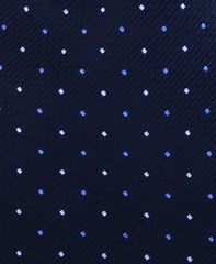 Navy Blue Pin Dots Tie
