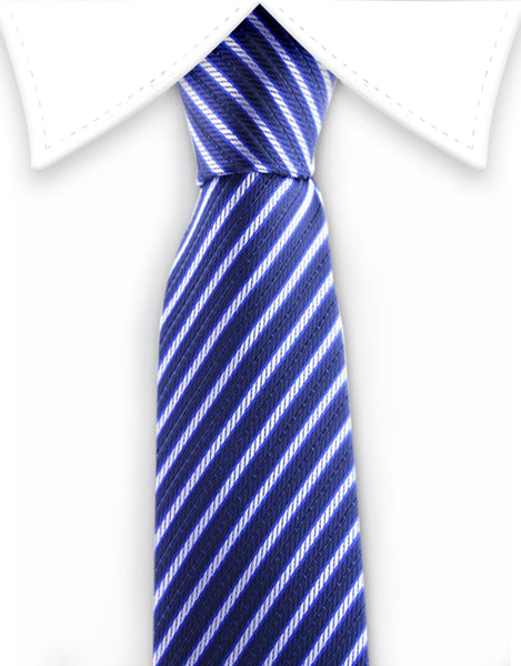 Blue Stripe Narrow Tie