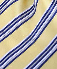 Yellow & Navy Blue Striped Tie