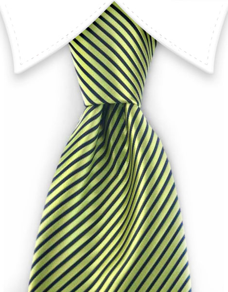 Neon green striped tie
