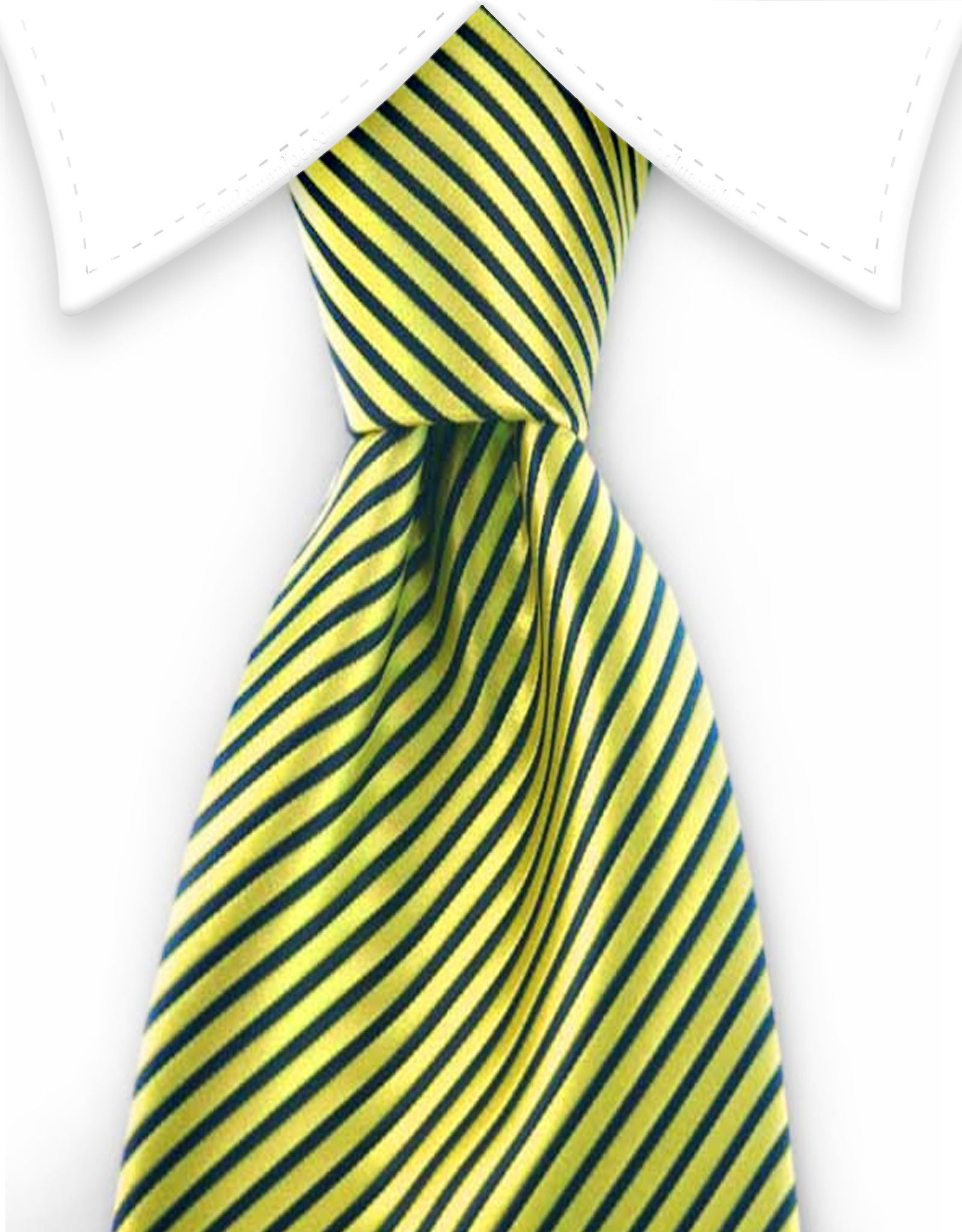 neon yellow striped tie