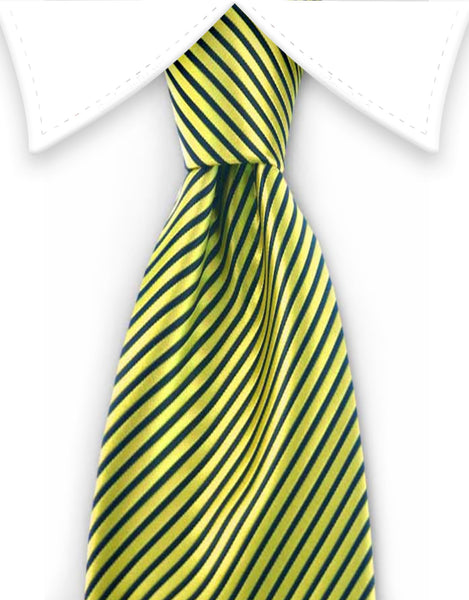 Neon Yellow Boy's Tie