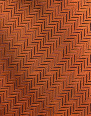 orange herringbone tie swatch