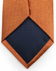 tip of orange necktie