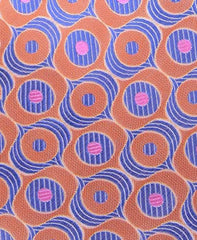 Orange, Pink & Blue Motif Tie