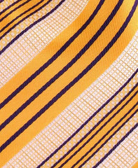 Orange & Purple Striped Extra Long Tie
