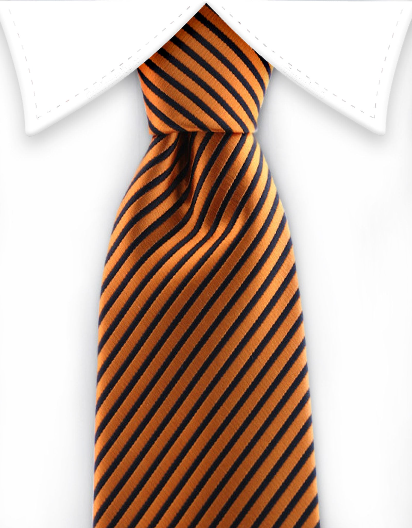 Orange & Black Striped Boy's Tie