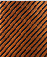 Orange & Black Pinstriped Narrow Tie