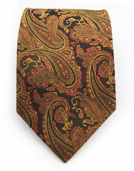 orange gold paisley necktie