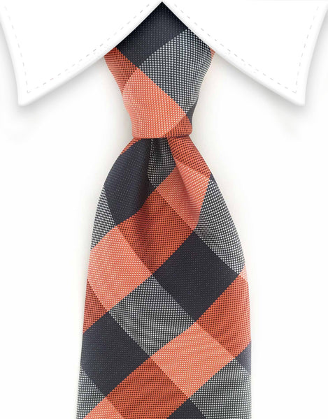 orange and navy tie