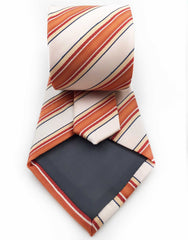 orange and peach necktie