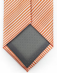 Orange Pinstriped Extra Long Tie - 3XL