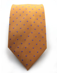 Orange & Purple Polka Dot Tie