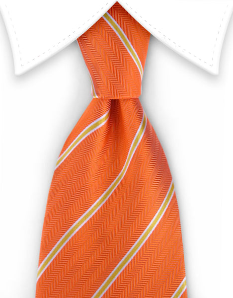 Orange Silk Tie