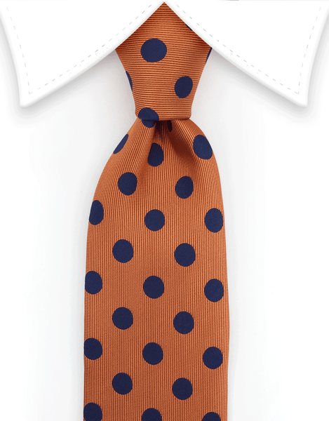 Orange & Blue Skinny Necktie