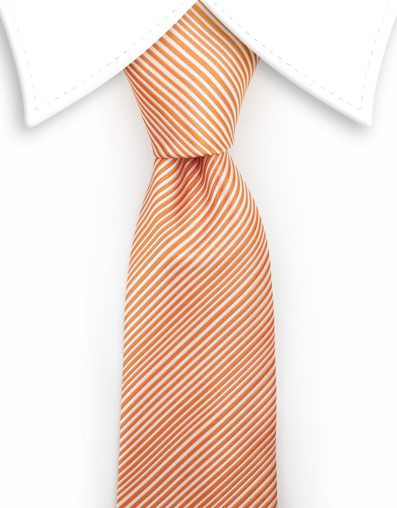 orange extra long tie
