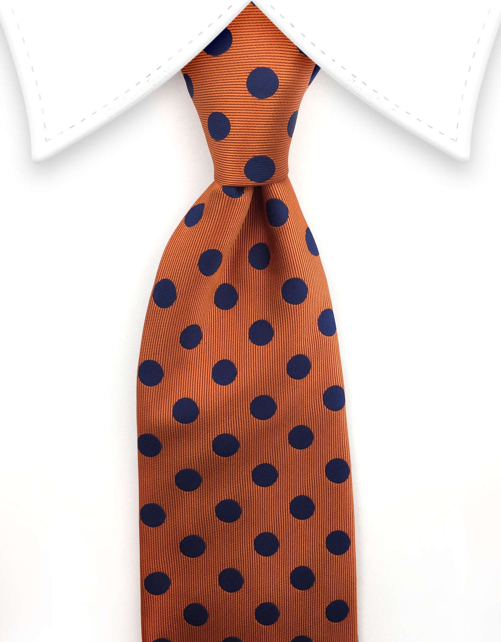 Orange & Blue Polka Dot Tie
