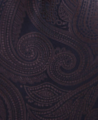 brown & black paisley tie