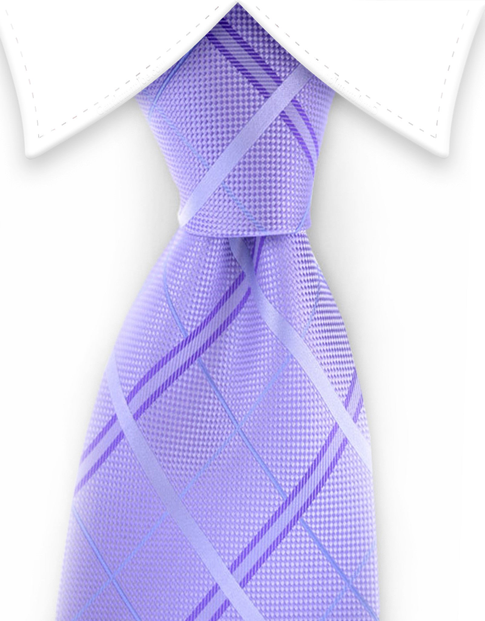 Light purple plaid tie