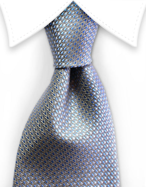 Gold & light blue tie