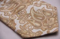 gold and champagne paisley tie