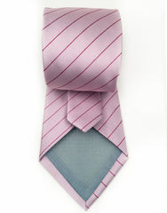 pink rose striped tie