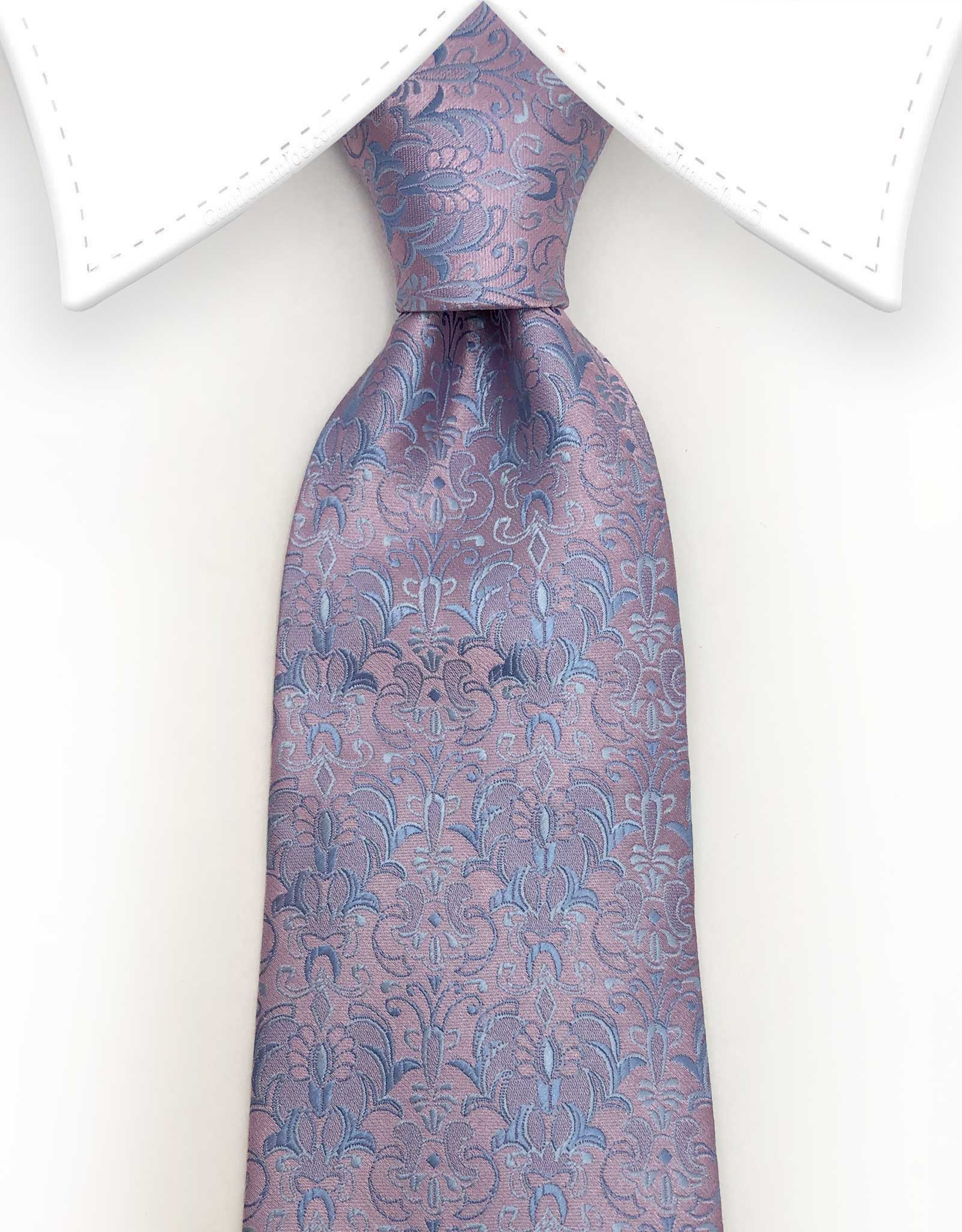 pink and blue floral tie
