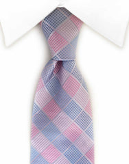 Pink and blue tie