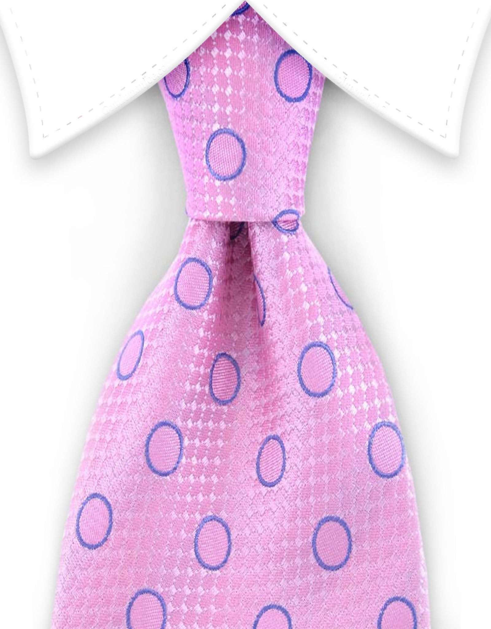 Pink and Blue Silk Tie