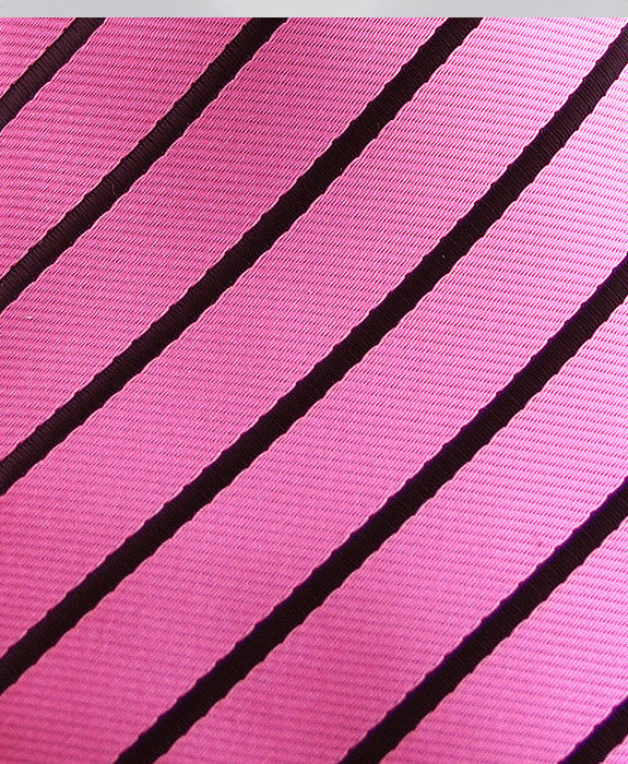 Pink & Black Striped Pocket Square
